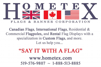 hometex flags and banners logo